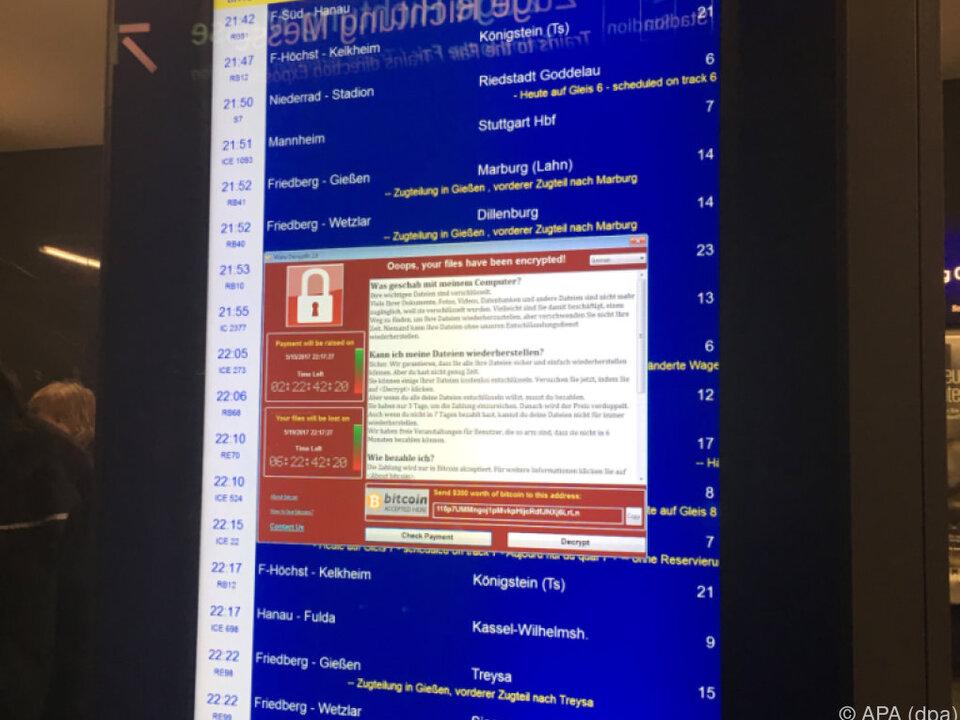 Auch die Deutsche Bahn war von der Cyber-Attacke betroffen