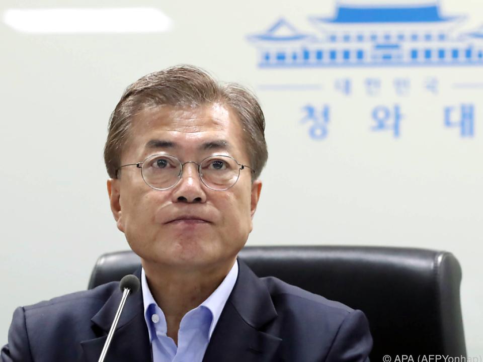 Südkoreas Präsident nennt Krieg mit Nordkorea sehr wahrscheinlich