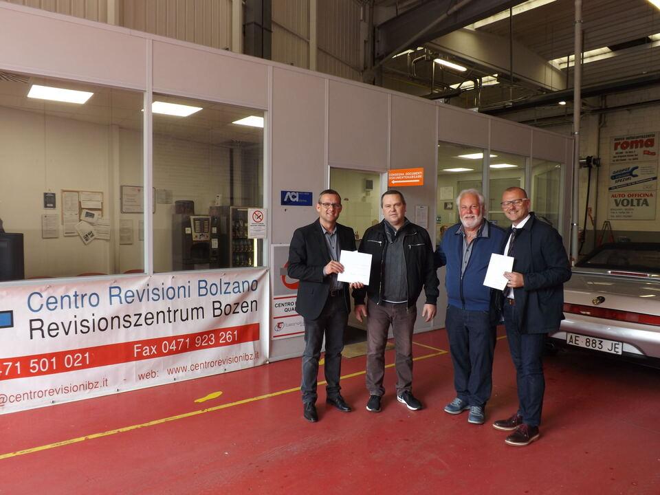 Übergabe Spende Revisionszentrum Bozen