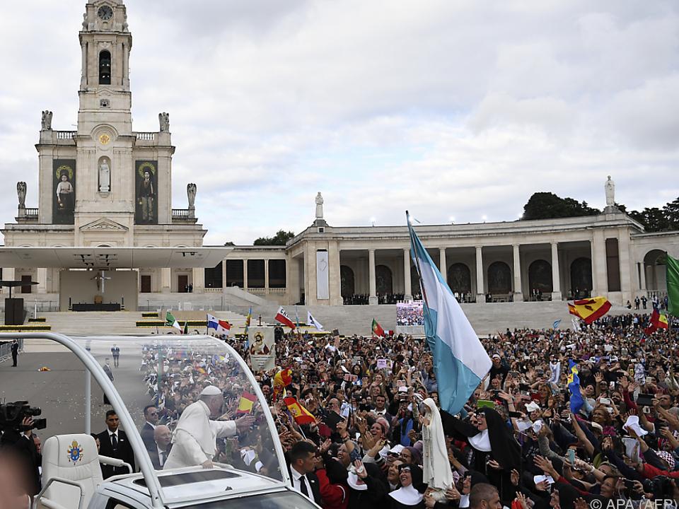 Das Wetter hielt die Massen nicht davon ab, nach Fatima zu pilgern