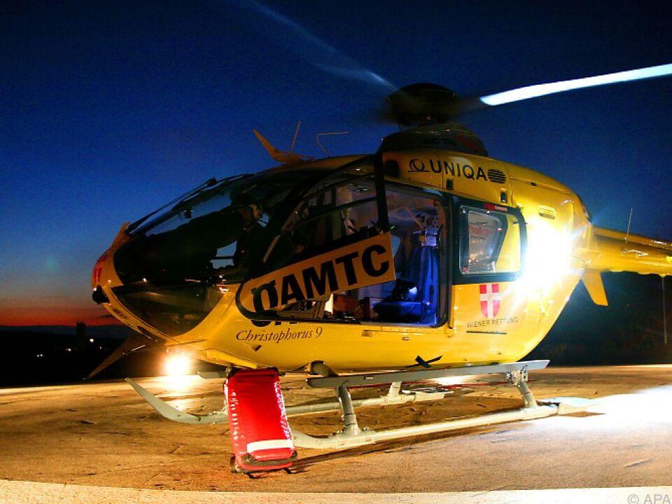 Der 70-Jährige wurde ins Krankenhaus geflogen