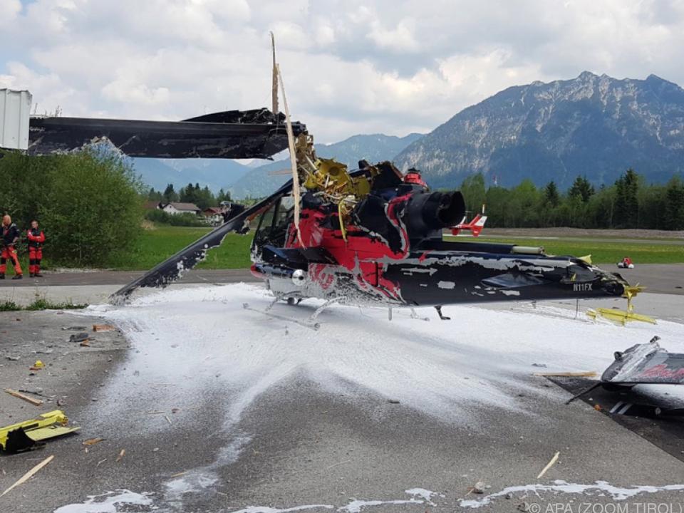 Der verunfallte Helikopter gehörte Red Bull