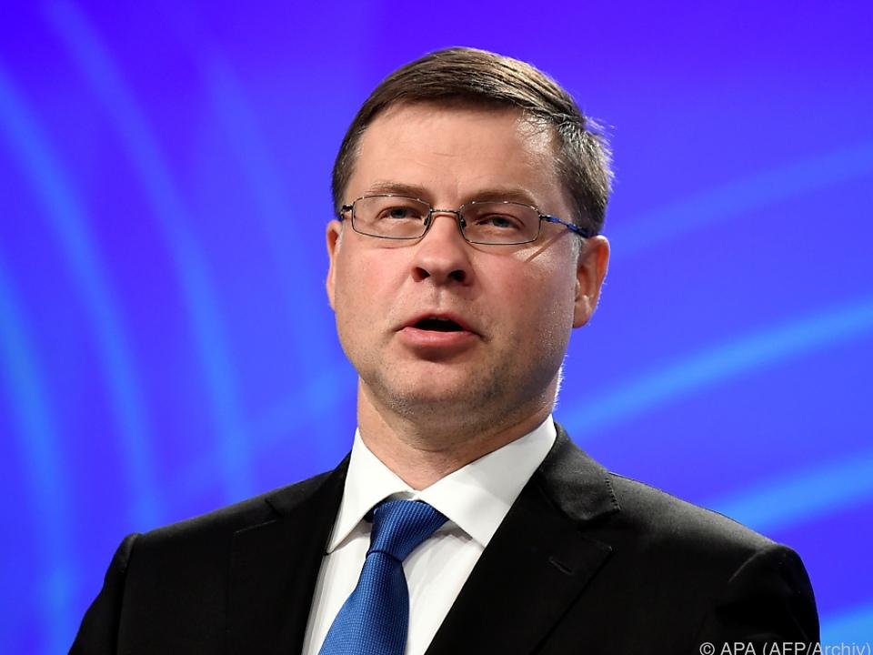 Die Einigung sei ein großer Schritt, so Dombrovskis