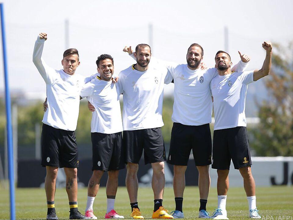 Die Euphorie bei Juve ist auch im Training groß
