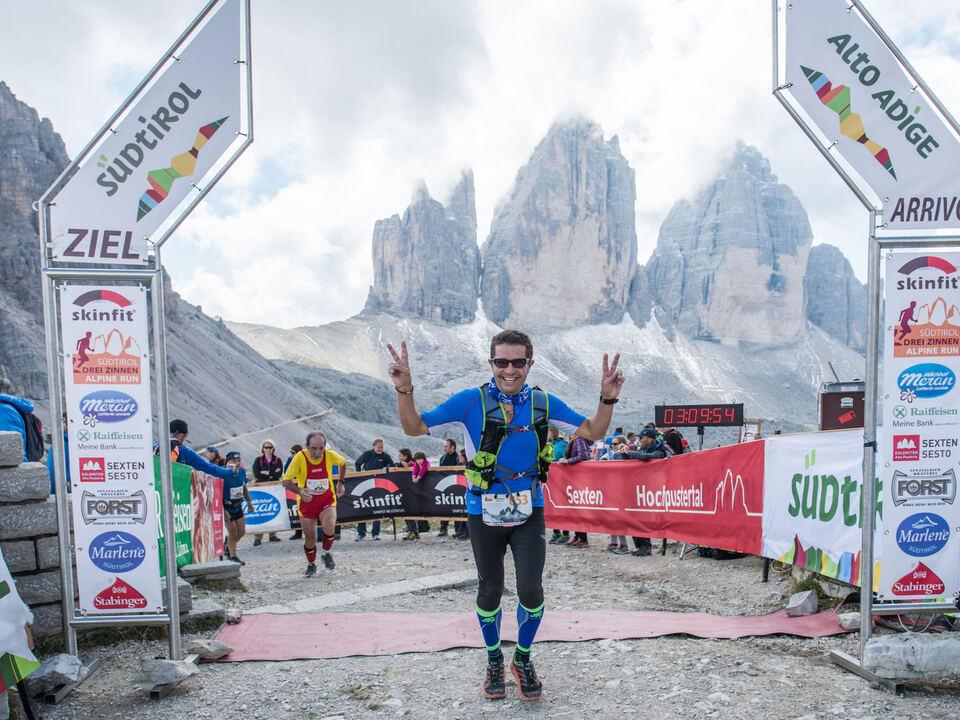Drei Zinnen Alpine Run Ziel