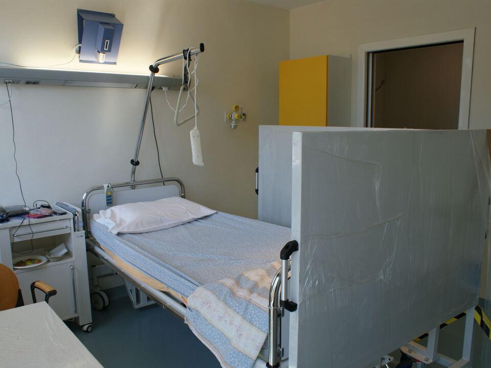 Krankenhaus Krankenbett Jod