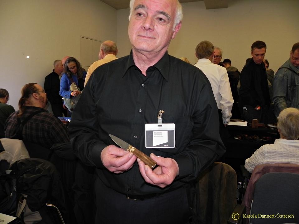 Reinhard Tschager  Messer Macher Messe 2017