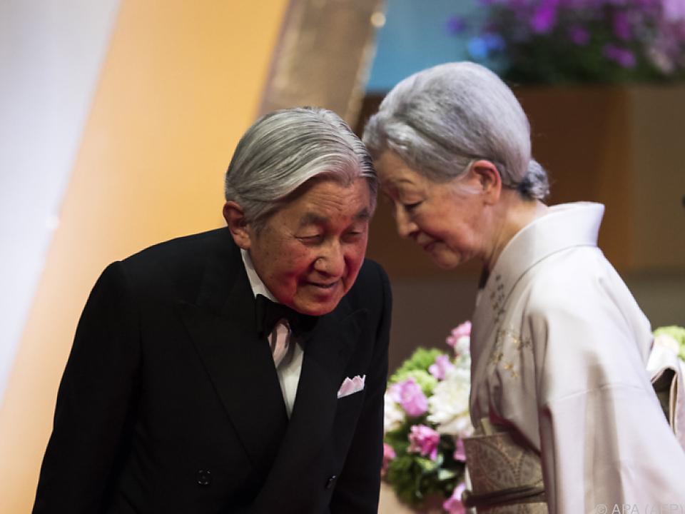 Eigentlich ist es unüblich, dass der japanische Tenno in Pension geht