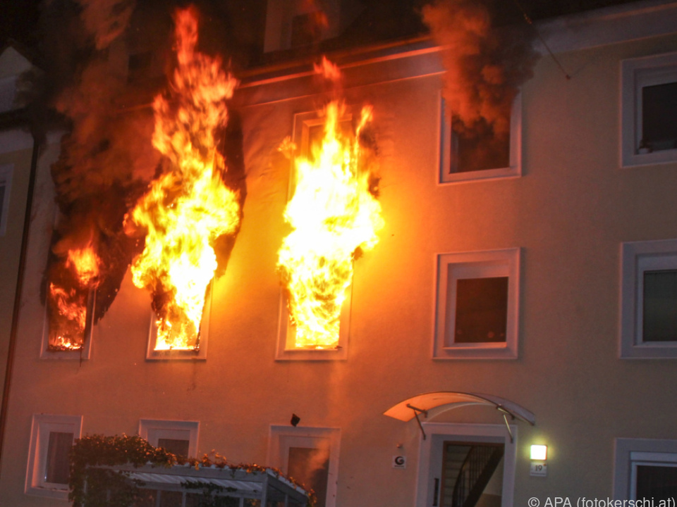 Ein Kerze löste den Brand aus