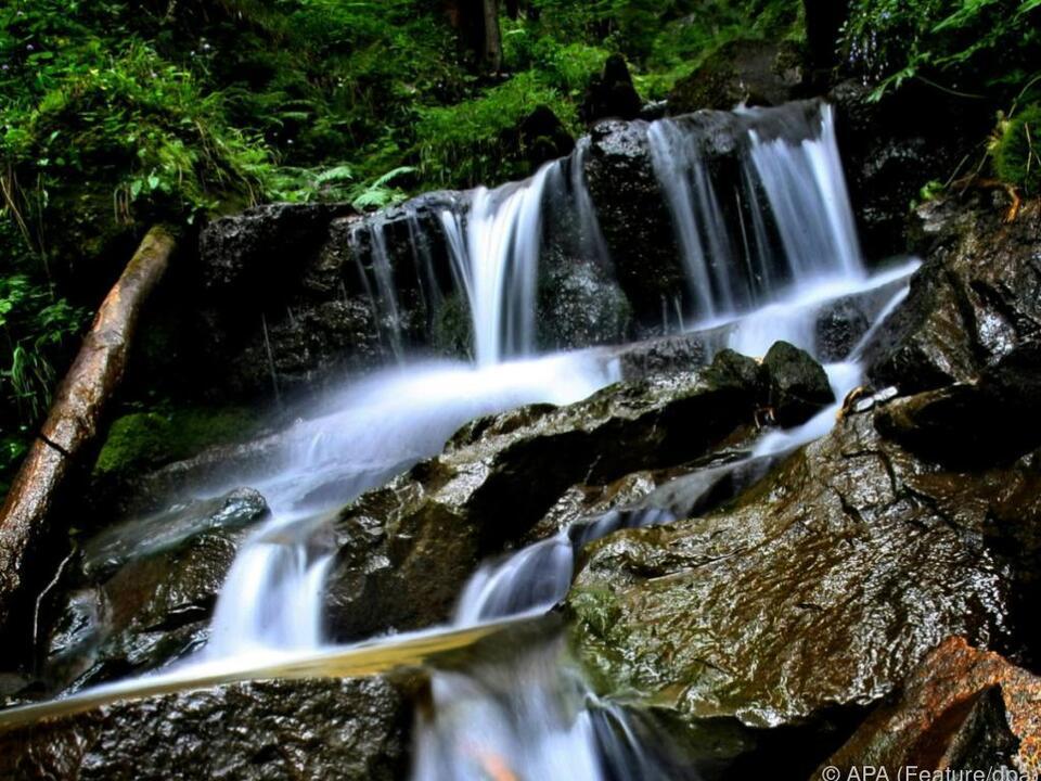 Gebirgsbach wurde für das Kind zur großen Gefahr bach wasser fluss berg urlaub