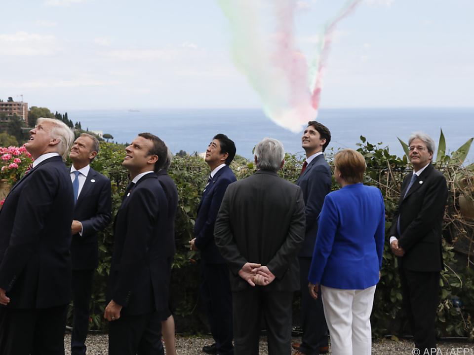 Gipfeltreffen in Italien