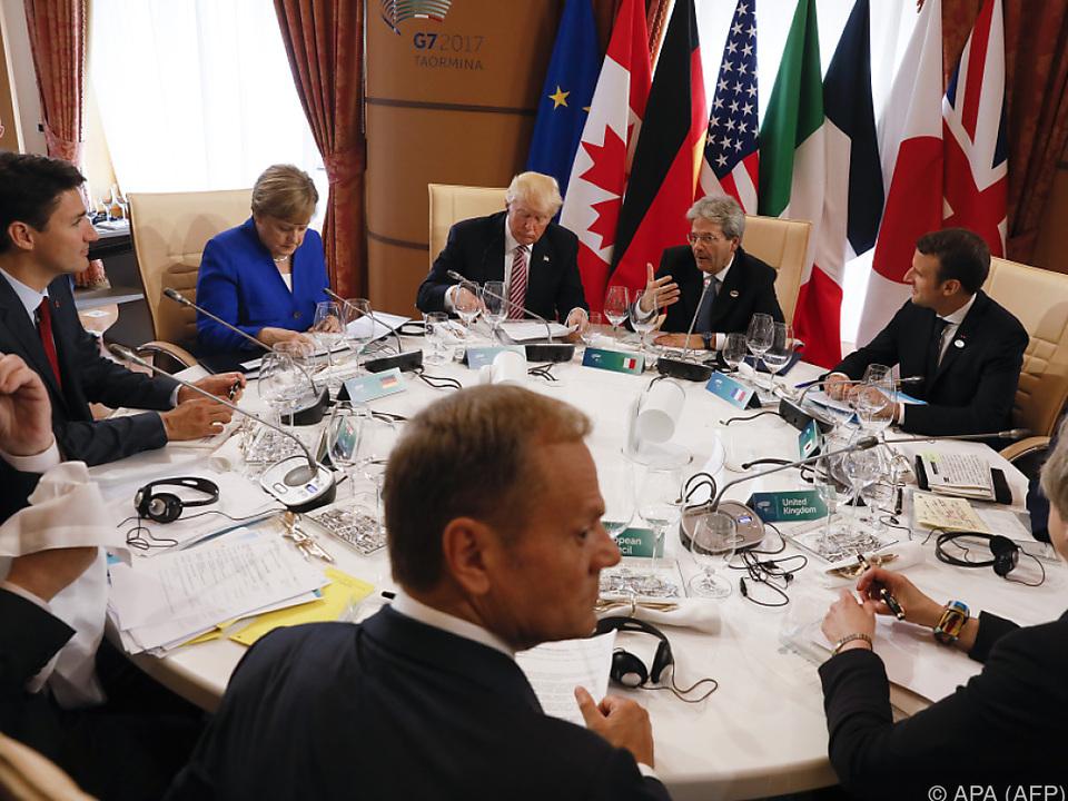 Harte Verhandlungen beim G-7-Gipfel