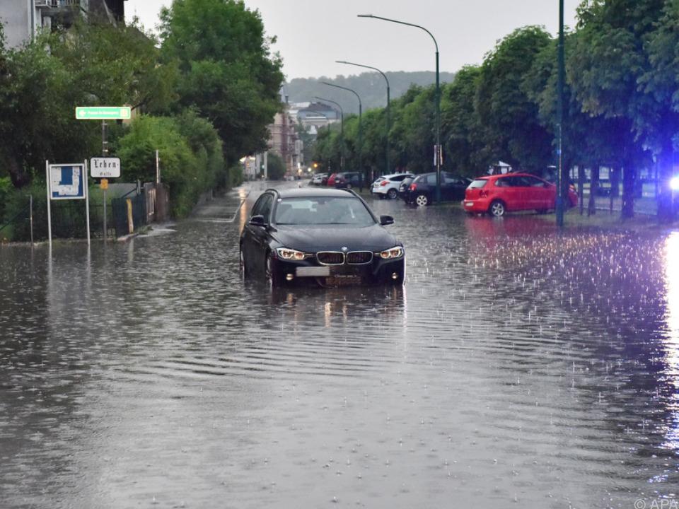 Heftige Regenfälle sorgten in Gmunden für Überschwemmungen
