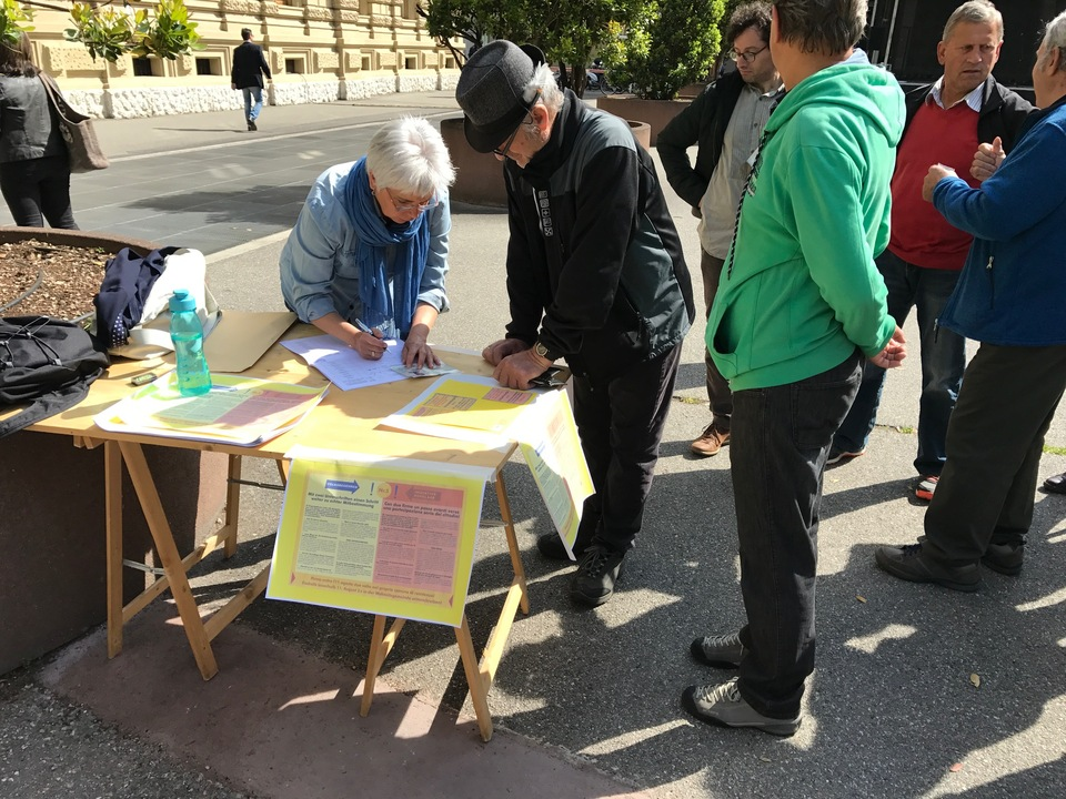 Unterschriften direkte demokratie