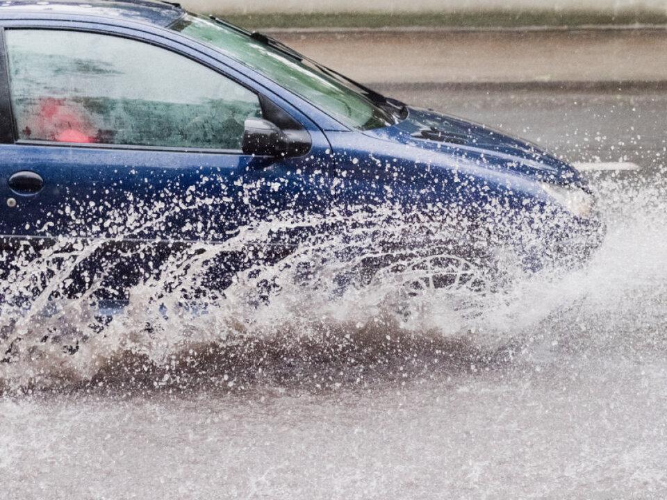 In Teilen Niedersachsens regnete es heftig
