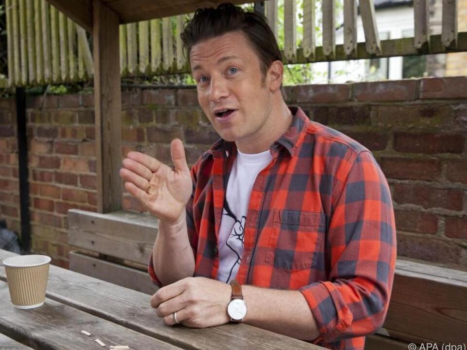 Jamie Oliver setzt sich für eine gesunde Ernährung für Kinder ein