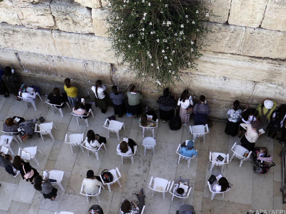 Klagemauer zählt zu den heiligsten Stätten des Judentums