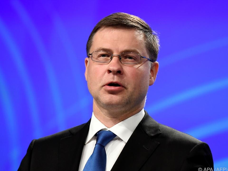 Kommissions-Vizepräsident Dombrovskis: \