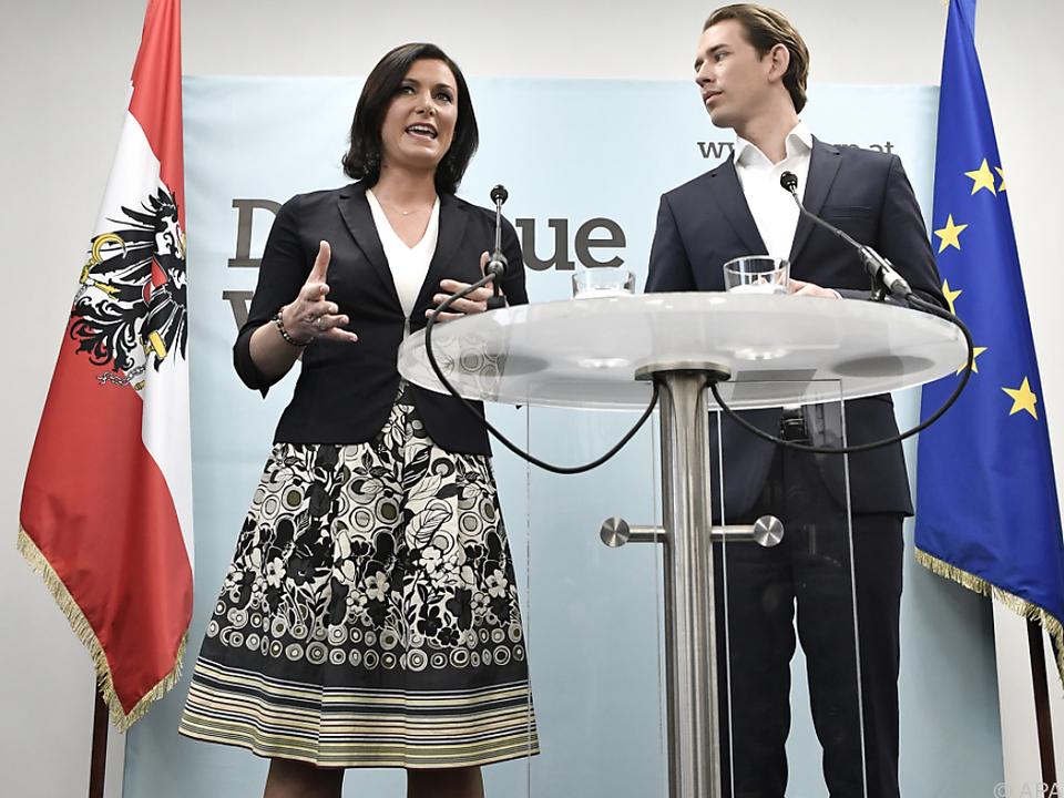 Kurz stellte Köstinger als neue Generalsekretärin vor