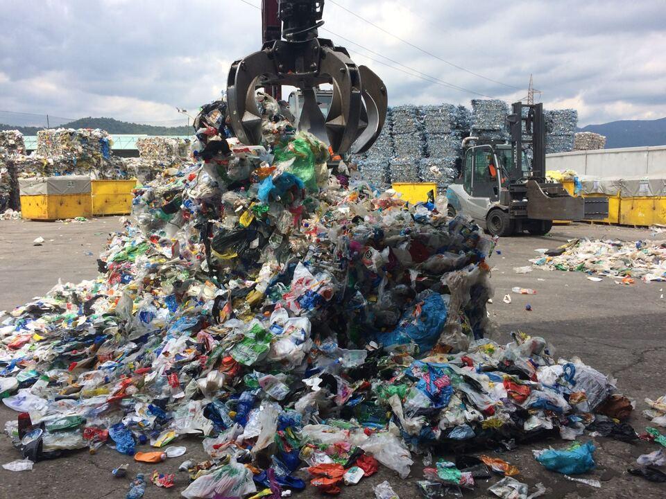 Plastikanalyse in Montello/Plastikmüll