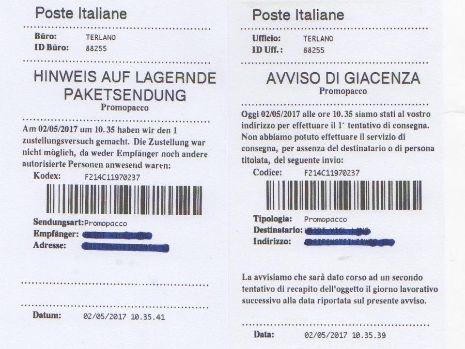 poste-italiane-nachricht