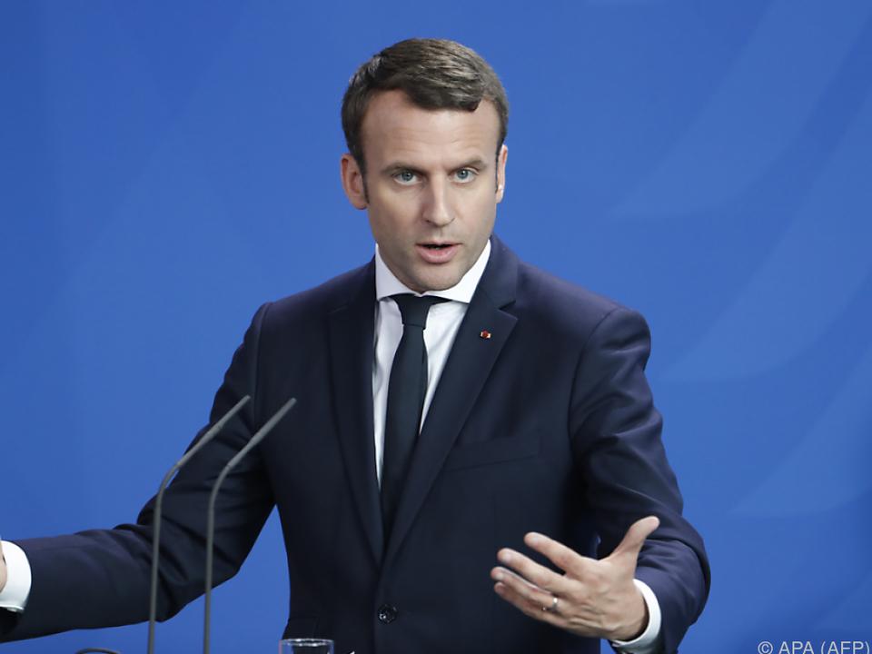 Präsident Macron stellte sein Team vor