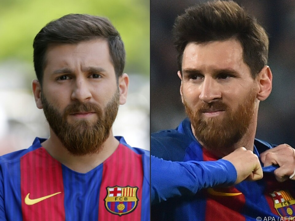 Reza Parastesh (links), Lionel Messis Doppelgänger