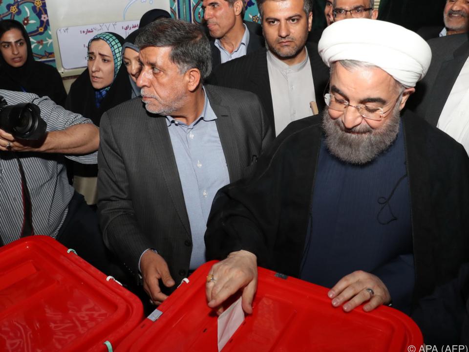 Iran: Amtsinhaber Ruhani gewinnt Präsidentenwahl im Iran
