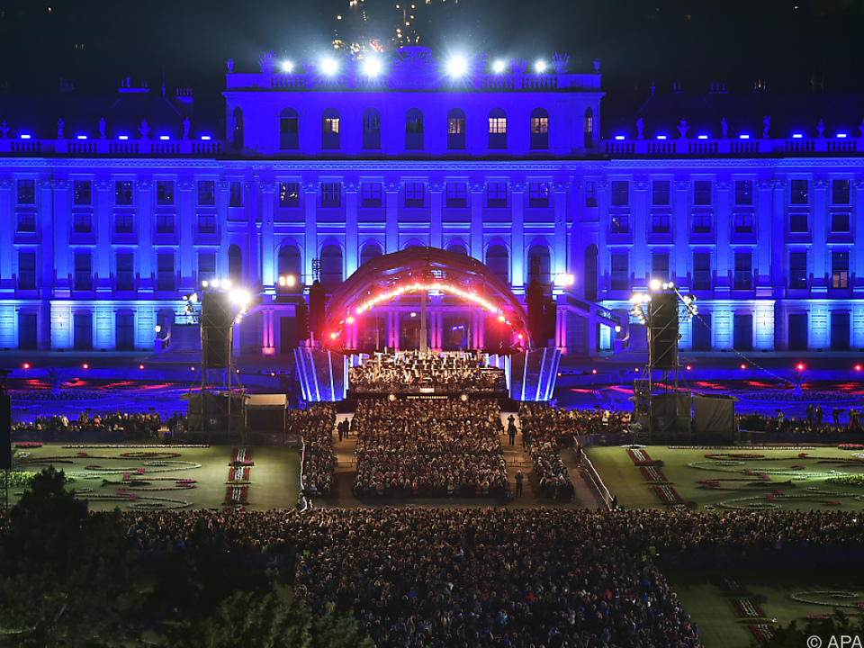 Rund 90.000 Besucher beim Sommernachtskonzert in Schönbrunn