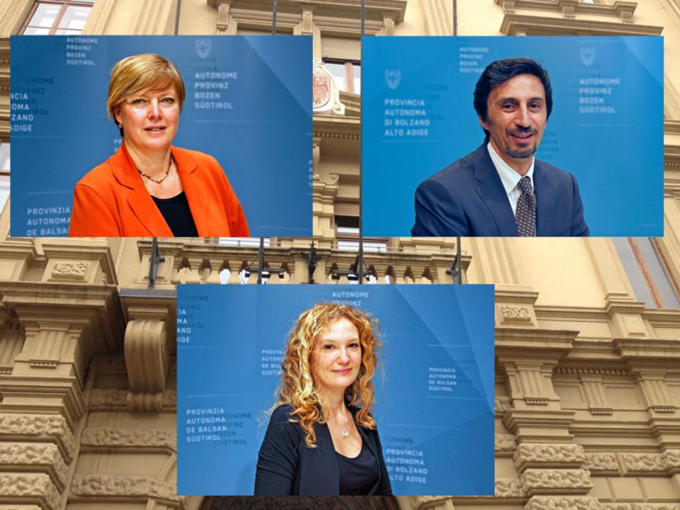Manuela Defant, Marco Pappalardo und Elisa Gentile