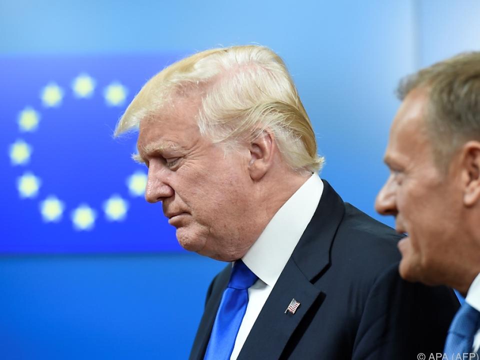 US-Präsident berät eine Stunde mit EU-Spitze
