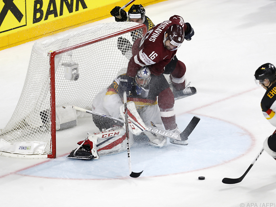 Viel Action bei Deutschland gegen Lettland