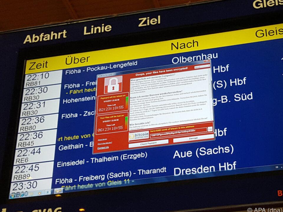 Viele Unternehmen wie etwa die Deutsche Bahn waren betroffen