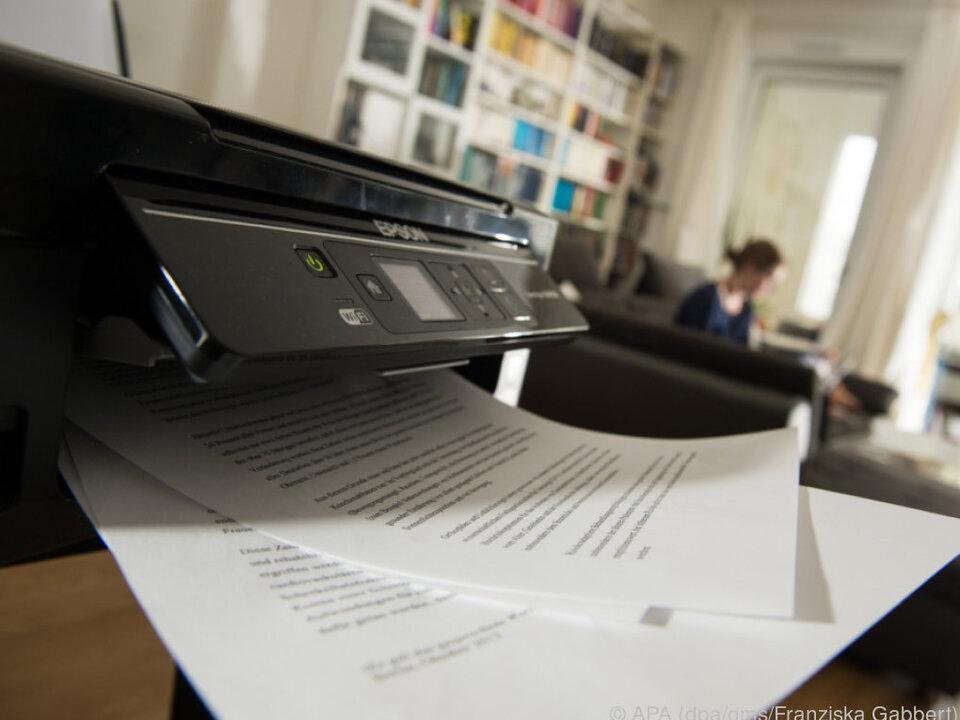 Werden Heimdrucker nur sehr selten benutzt, sind die Druckkosten hoch
