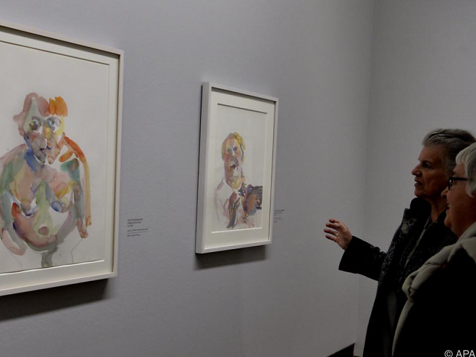 Zeichnungen und Aquarelle der Künstlerin sind bis 27. August zu sehen
