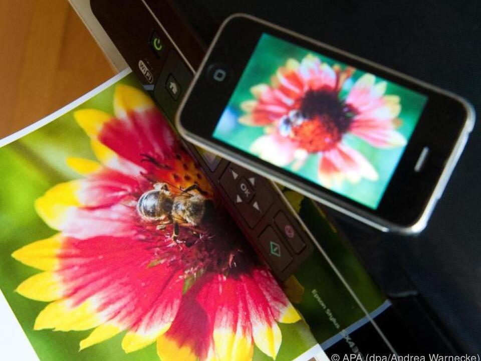 Zum Drucken kann jetzt auch ganz einfach das Smartphone genutzt werden