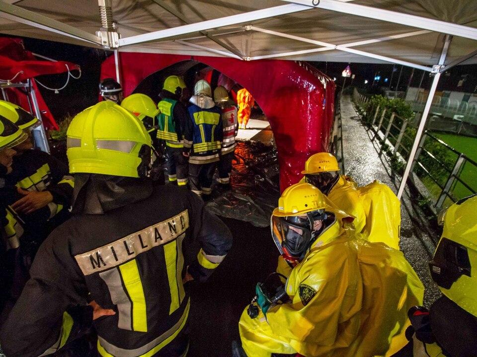 Chemieeinsatz Schwimmbad Felthurns Feuerwehr
