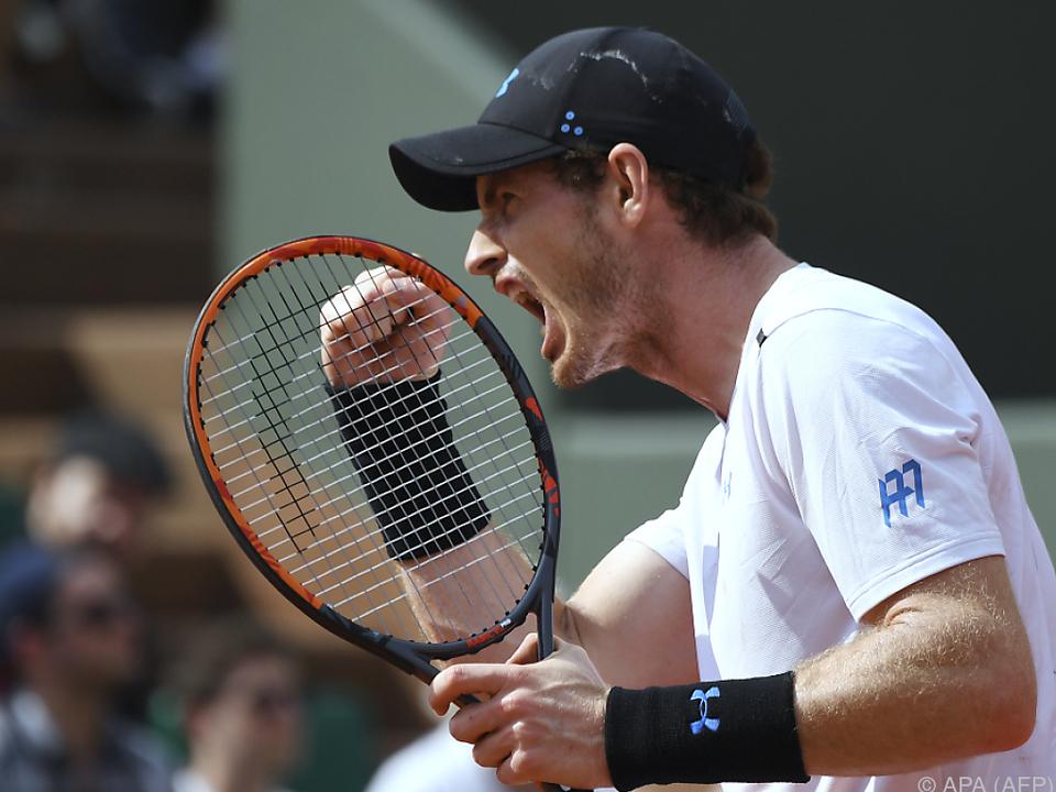 Andy Murray auf dem Platz wie immer sehr impulsiv