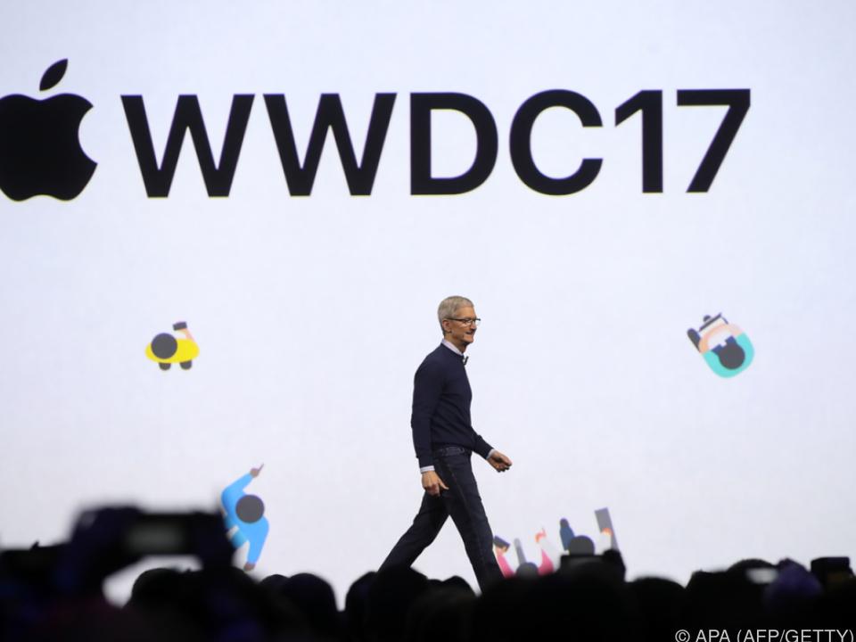 Apple-Chef Cook bei der WWDC