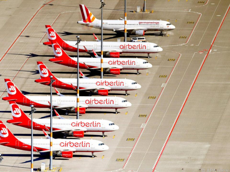 Auch am Montag strich Air Berlin sieben Flüge