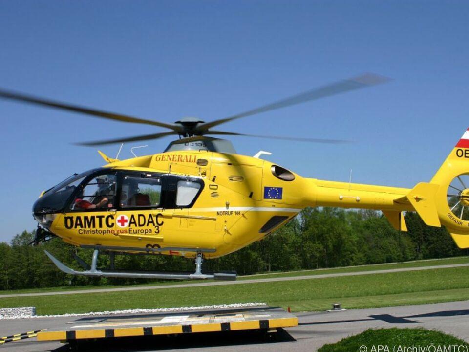 Auch die Überstellung per Hubschrauber konnte den Mann nicht retten