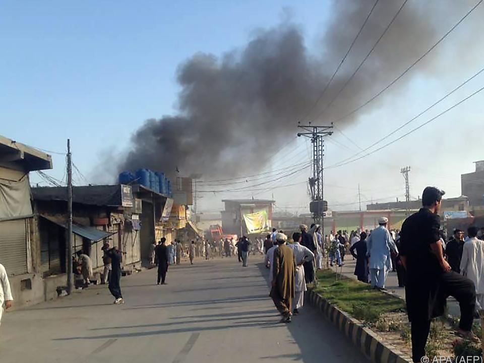 Auf einem belebten Markt explodierten zwei Bomben