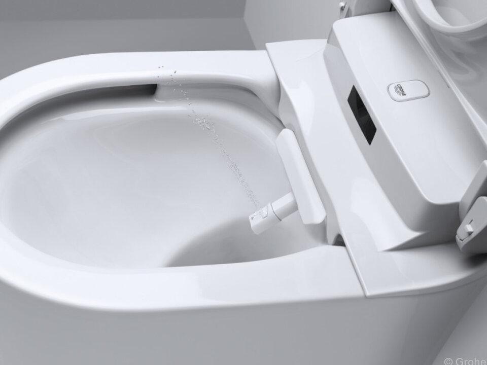 Toiletten mit Duschfunktion für den Intimbereich wie hier von Grohe