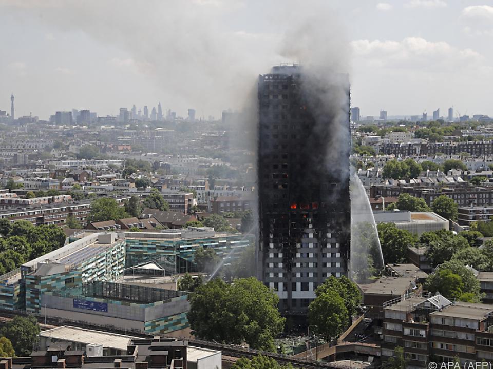 Der Brand in dem Hochhaus endete verheerend