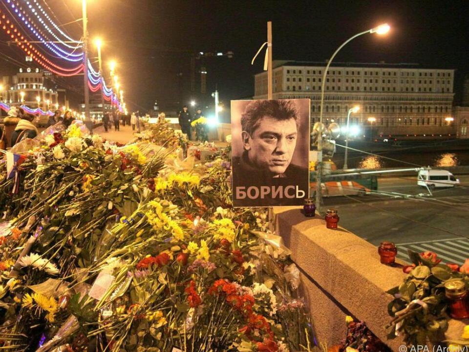 Der Kremlkritiker Nemzow war am 27. Februar 2015 erschossen worden