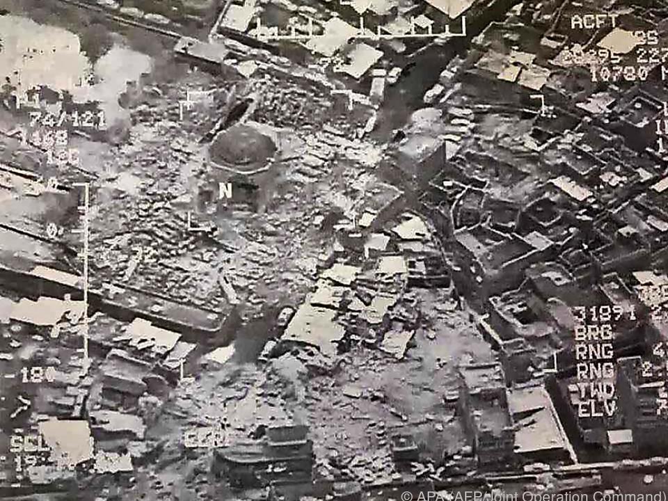 Die Große Moschee von al-Nuri wurde am Mittwoch zerstört