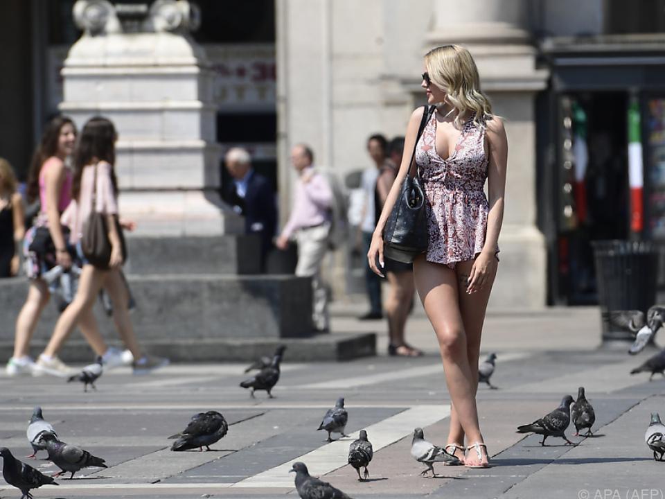 Die Hitze macht den Italienern zu schaffen