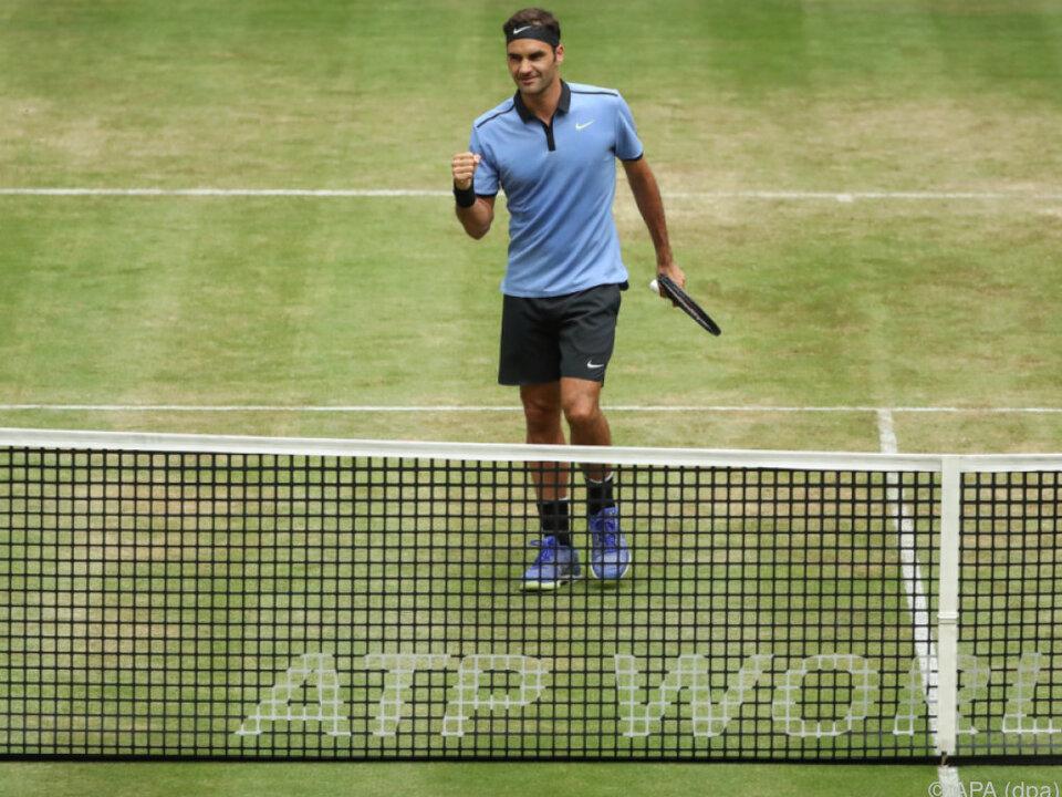 Roger Federer in Halle zum elften Mal im Finale