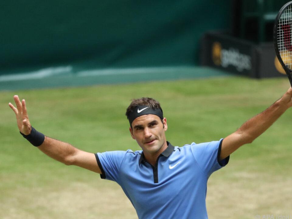 Federer kann zufrieden sein