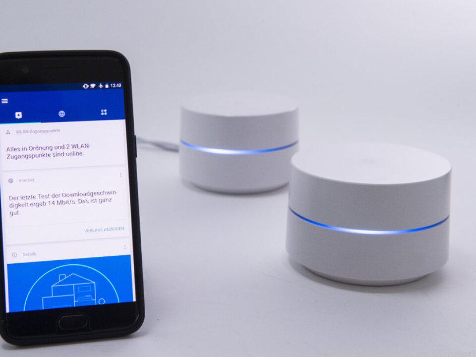 Konfiguration und Steuerung von Google Wifi erfolgen per App